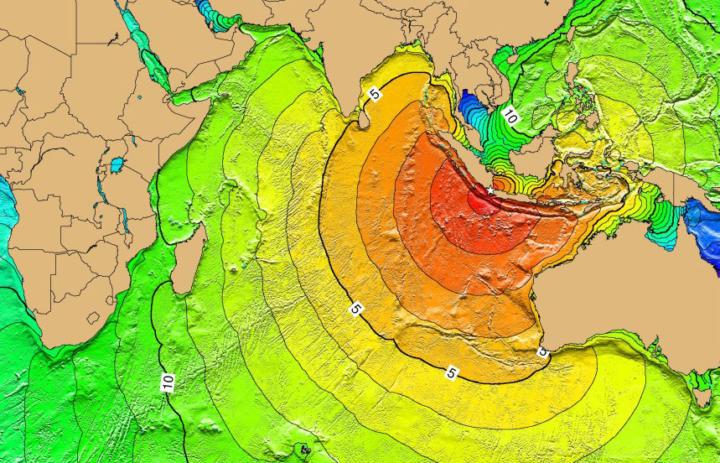 Krakatoa Tsunami range