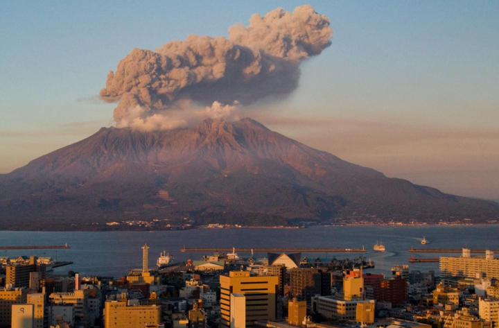Sakurajima volcano, Japan